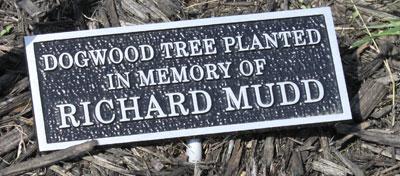 Memorial plaque for Richard.