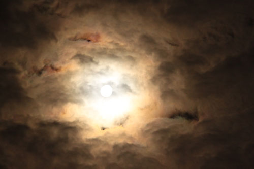 Is the soul out there with the moon and clouds?